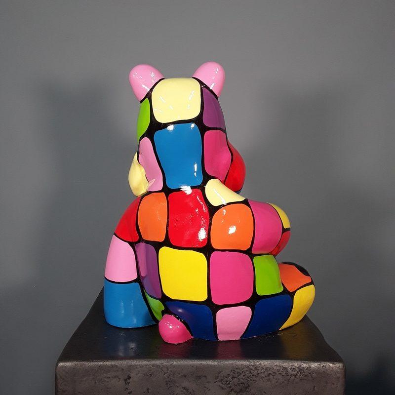 Hippopotame en résine coloré nlcdeco