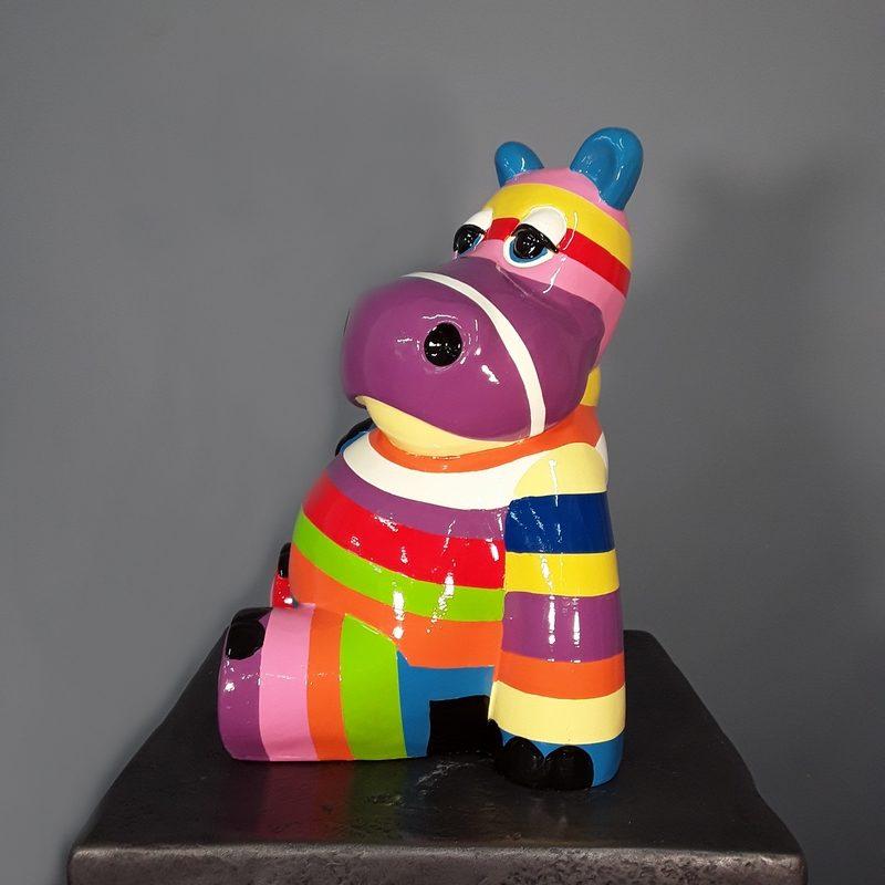 Hippopotame multi couleurs nlcdeco