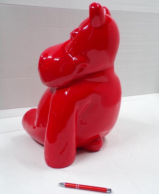 hippopotame design en résine