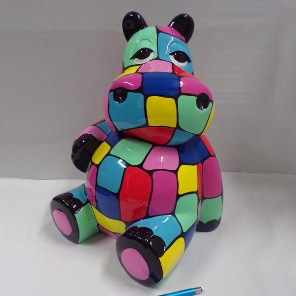 hippopotame décor chambre enfant