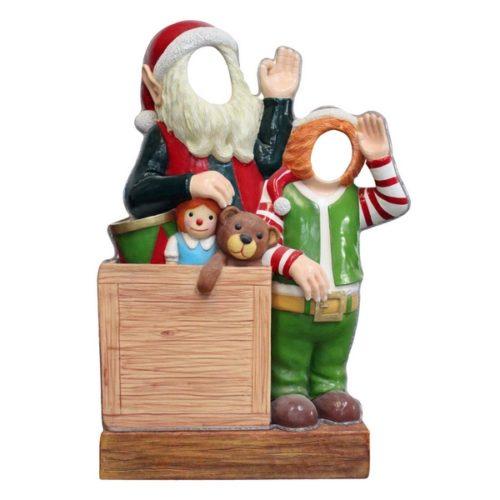 Père Noël et lutin photo portrait