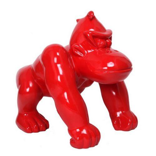 gorille résine design couleur rouge