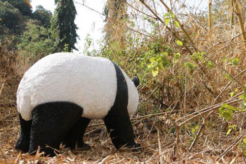 panda grandeur nature en résine