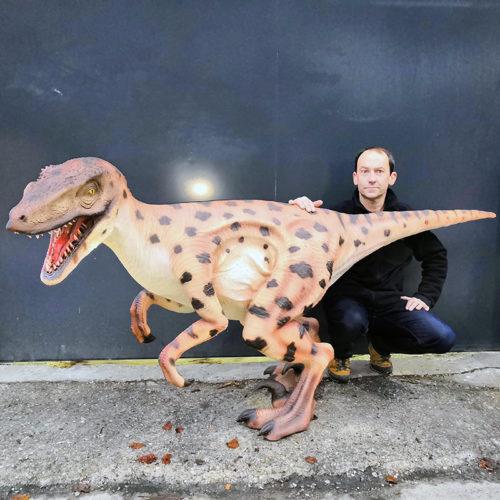 vélociraptor réplique grandeur nature nlcv deco déco dinosaure resine (1)