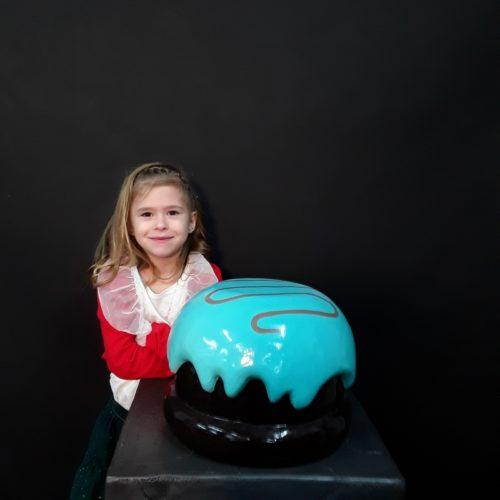 Bonbon chocolat enrobé bleu nlcdeco
