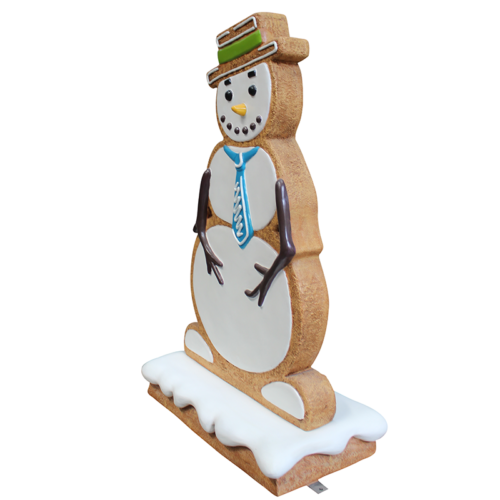 Bonhomme de neige pain d'épices H