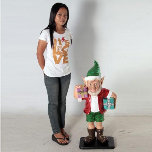 Elfe avec 2 cadeaux