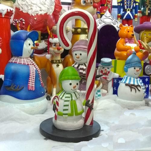 Canne à sucre & bonhomme de neige