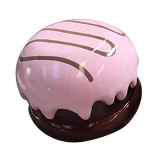 Petit bonbon chocolat enrobé rose