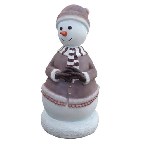 Petite maman bonhomme de neige