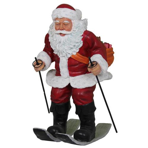 Père noël fait du ski