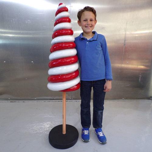 Sucette cône 135 cm nlcdeco noel bonbon sucrerie deocration