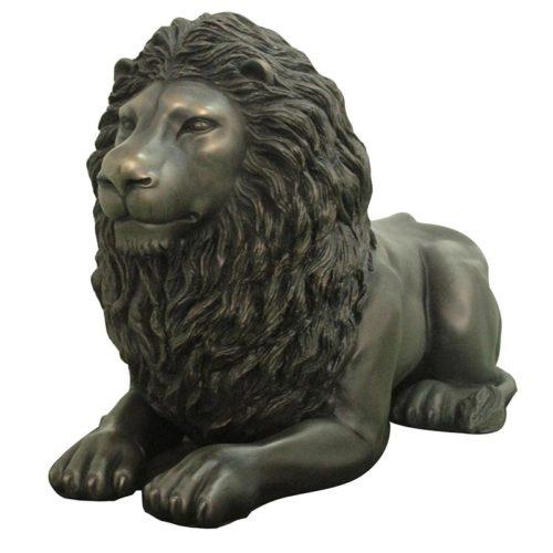 Lion noir allongé NLC DECO