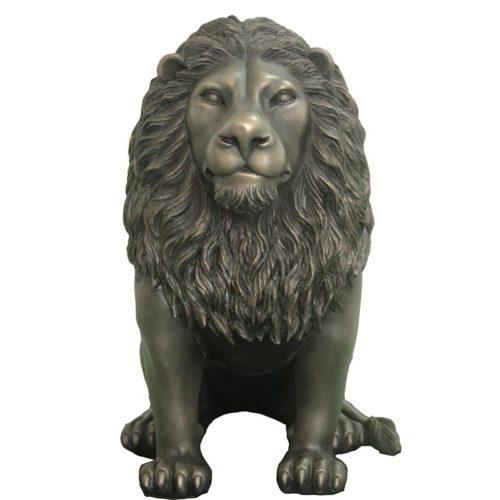 Lion noir assis NLC DECO