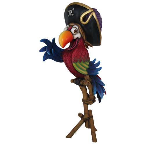 Perroquet pirate sur support