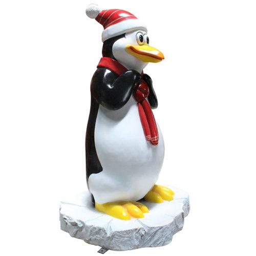 Pingouin enfant avec neige NLC DECO