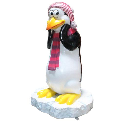 Pingouin maman avec neige NLC DECO