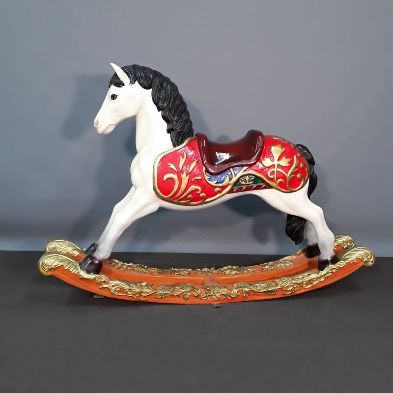 Statuette résine petit cheval à bascule nlcdeco