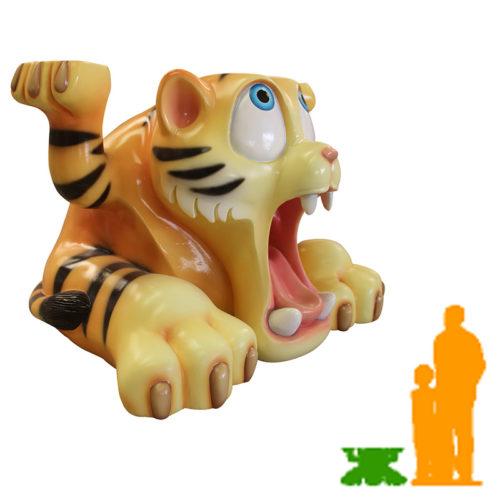 Tigre marrant qui porte NLC DECO