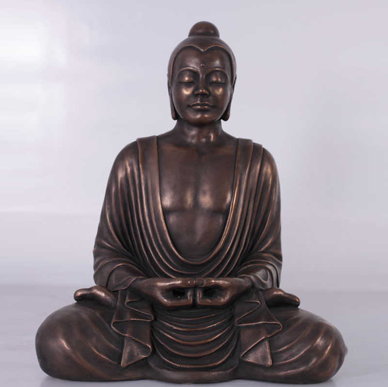 Bouddha assis bronze nlc deco
