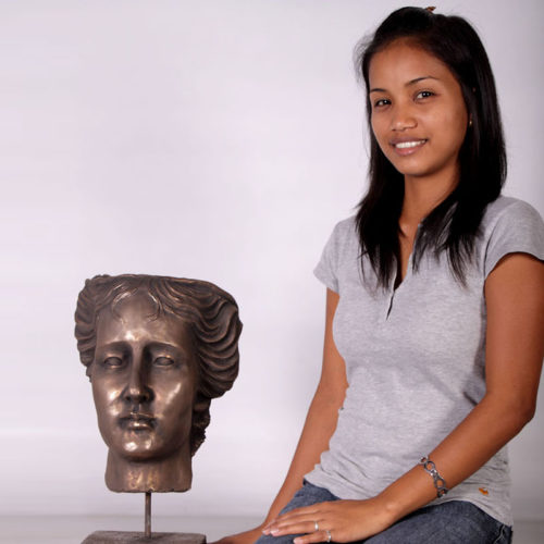 Tête Aphrodite bronze NLC DECO