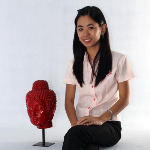 Tête de bouddha Rouge brillant NLC DECO