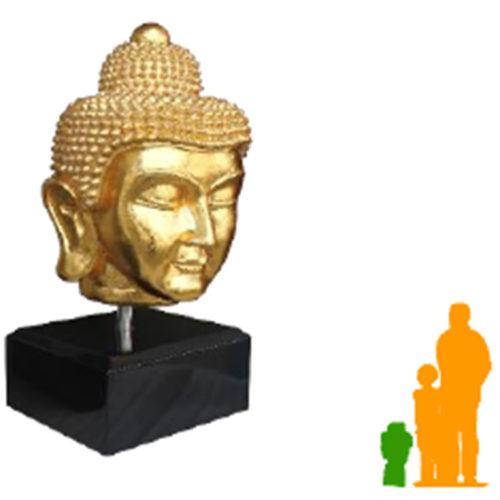 Tête de bouddha sur son socle Or