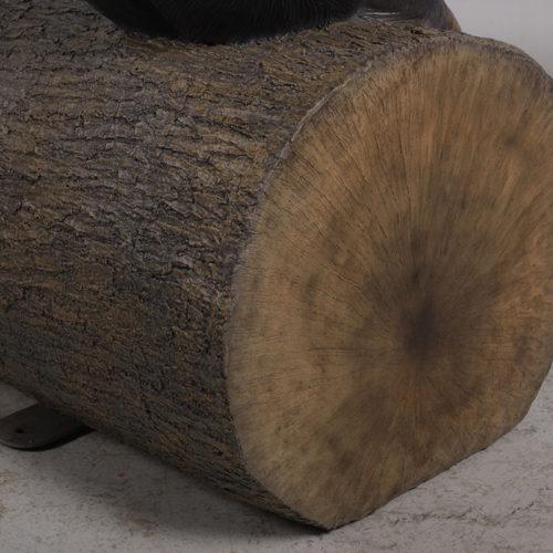 Banc Singe sur tronc d'arbre NLC DECO