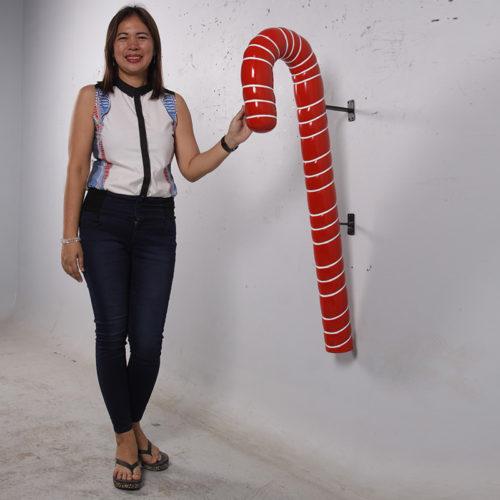 Canne à sucre murale rouge nlc deco