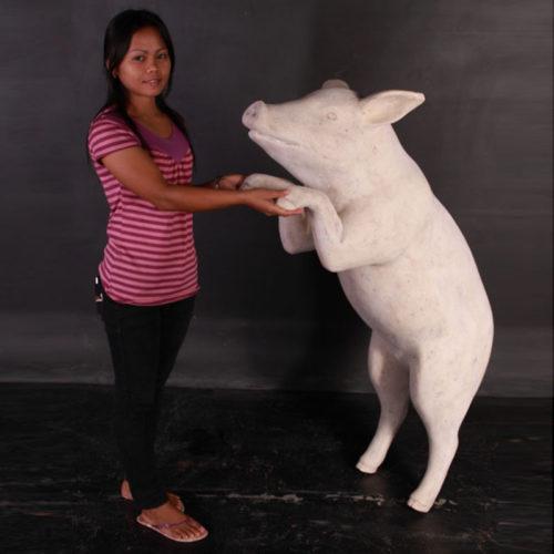 Cochon curieux pierre blanche NLC DECO