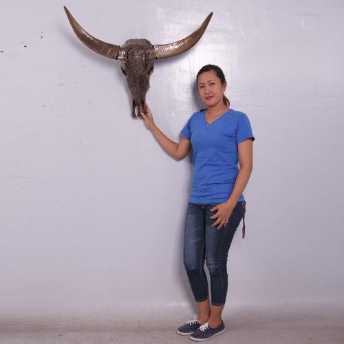 Déco mural crane taureau bronze NLC DECO