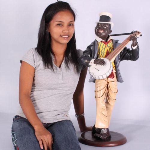 Joueur de Banjo noir nlc deco