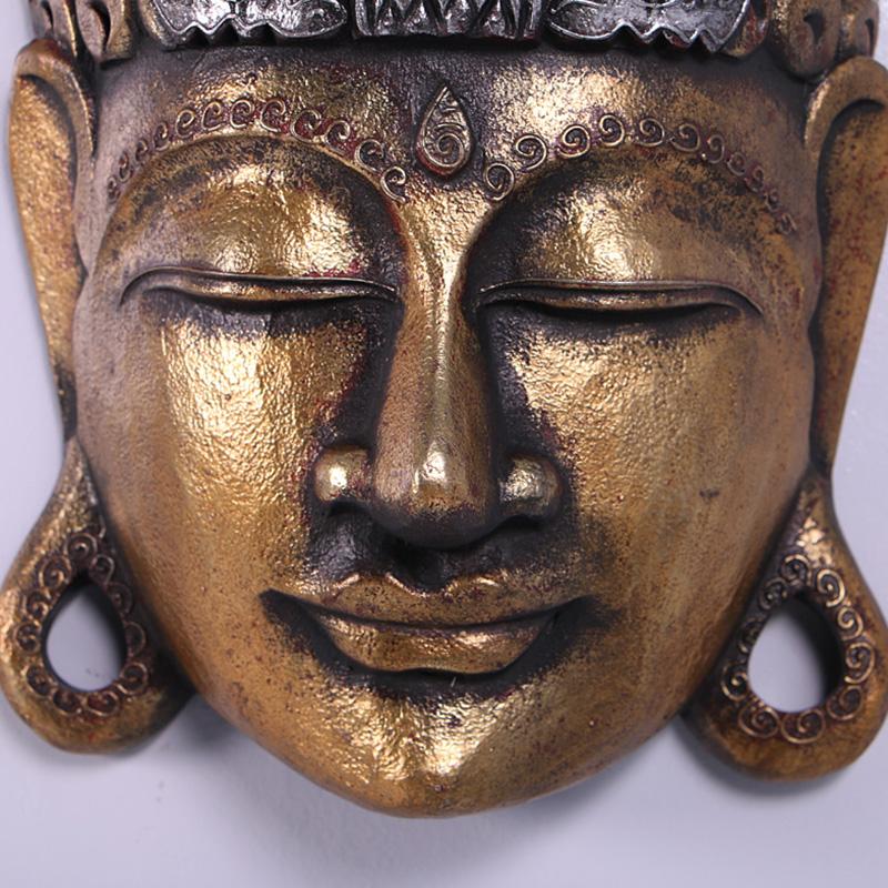 Masque Tribal bouddha or nlc deco