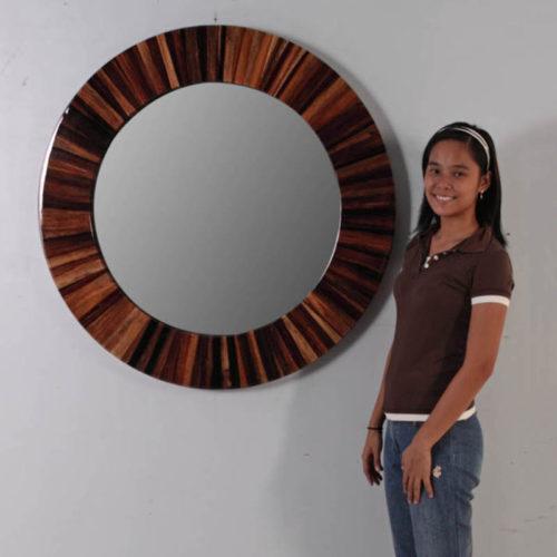 Miroir Abaca rond NLC DECO