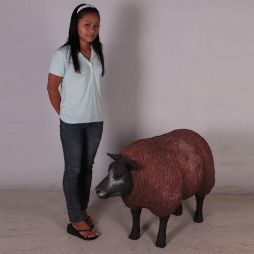 Mouton debout marron NLC DECO