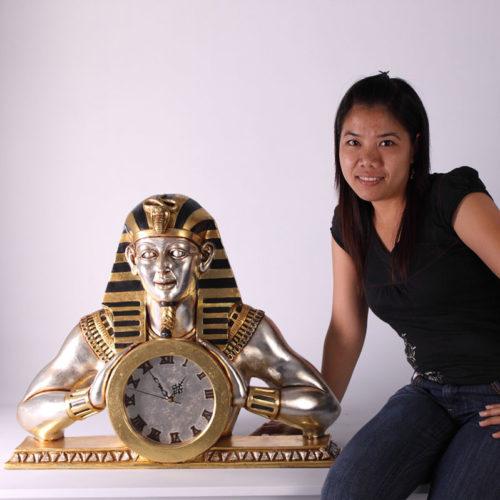 Horloge à poser egyptienne Egypte CLEMC nlc déco NLCDECO