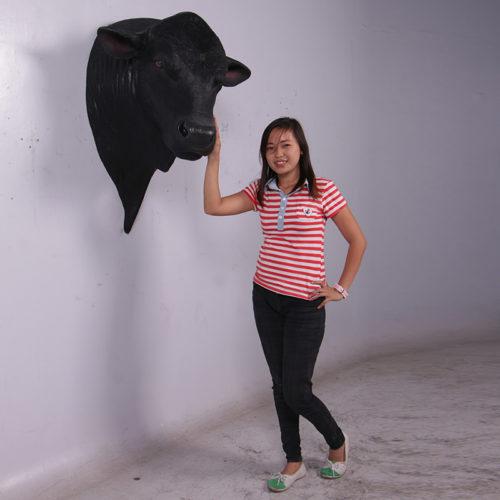 Trophée vache Angus noir 150382 nlcdeco nlc deco