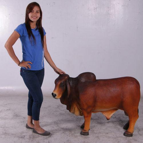 vache brahmane marron brown 160024 nlcdeco nlc deco