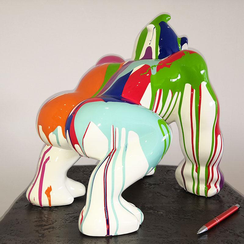 Gorille BD trash PM Trash fond blanc nlcdeco.fr decoration en resine