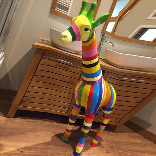 girafe jaune debout SCWAGIR115j NLC DECO nlc déco