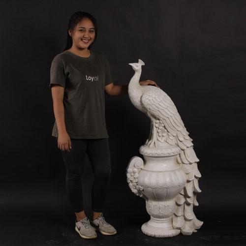 Statue géante de Paon 180180 nlcdéco NLC DECO pierre décoration jardin