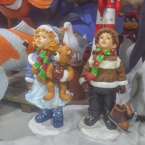 couple patinoire nlc déco NLCDECO noel decoration neige