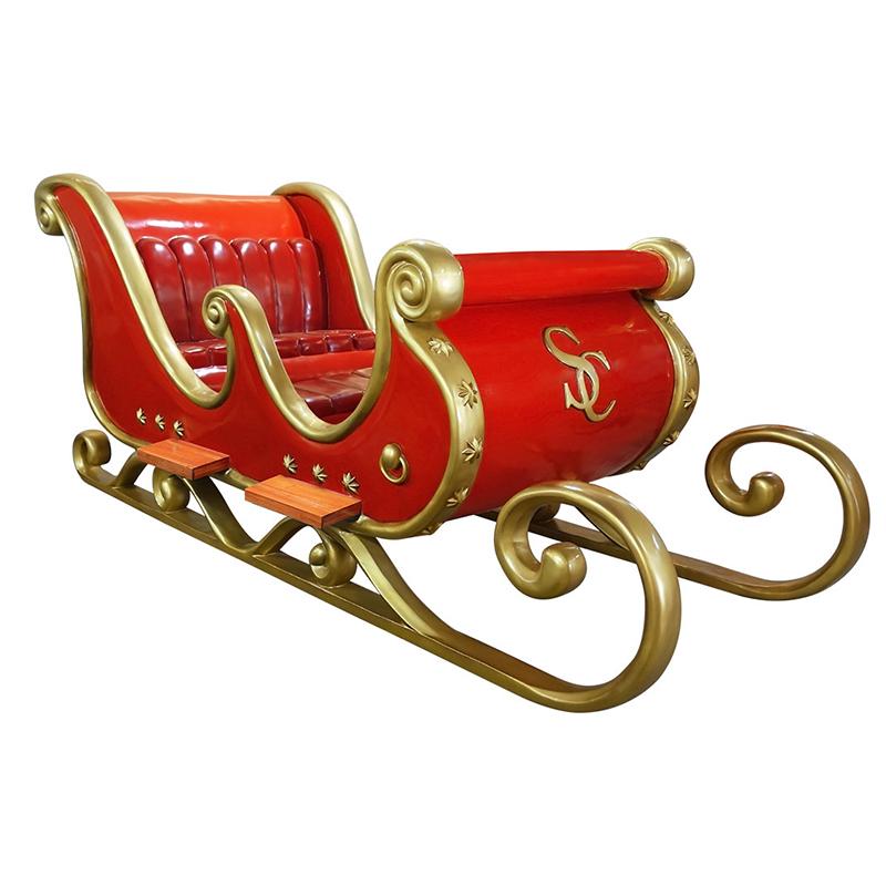 Traineau Noel Traîneau du Père Noël   Statues, personnage, animaux et décors en