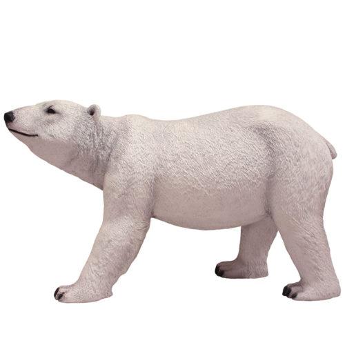 2505-4001-walking-polar-bear-185x65x115 ours polaire qui marche nlc déco nlc deco