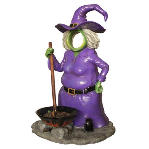 2505-6222-witch-pod passe tete sorciere deco halloween nlc déco deco resine