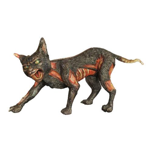 2505-6286-Cursed-Cat-60-x-15-x-30 chat maudit resine halloween nlc déco deco