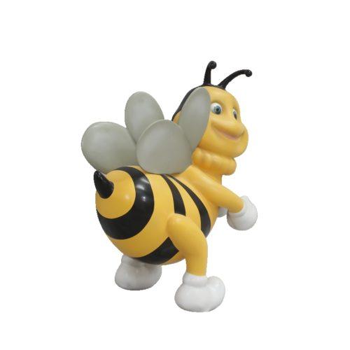 Abeille-nlcdeco-décoration-en-résine-butiner-fleur-piqûre-printemps-cire-miel-vue-profil.jpg