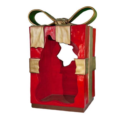 Giant-Christmas-Parcel-Green paquet cadeaux geant creux nlc deco nlc déco noel