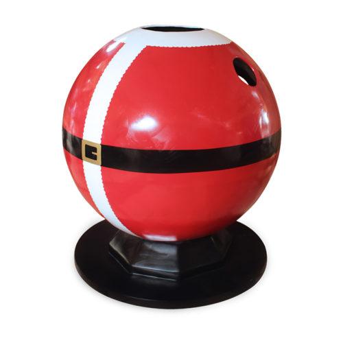 Santa-bubble-pod-glossy-front passe tete boule de noel nlc deco nlc déco