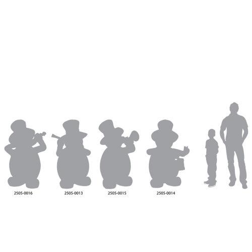Snowman-Band bonhomme de neige musicien nlc deco NLC déco